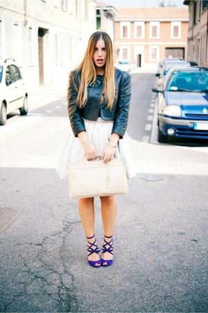 black Della Croce blazer - tan Valentino skirt