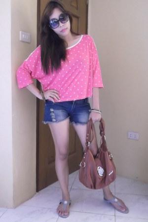 polka dots mags blouse