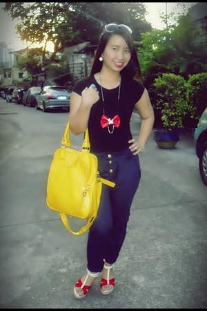 black random brand top - navy - yellow random from Hong Kong - red random brand