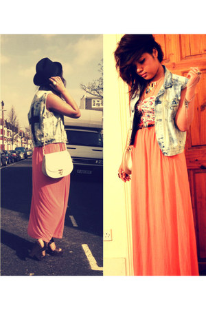 new look top - Forever 21 hat - Internacionale shirt - Primark bag