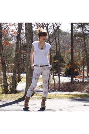 boots - floral pants