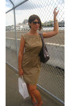 beige Jacob dress - gray Matt & Nat purse - D&G sunglasses - Dynamite bracelet -
