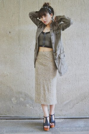 spiked headband DarkSweetSoul accessories - cropped top Topshop top - Gap skirt