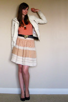 Forever 21 jacket - vintage belt - Forever 21 skirt - Forever 21 necklace