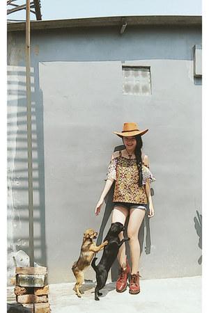 chiffon batik Kurawa top