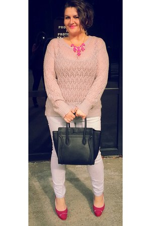 bubble gum accessories - silver soft Lauren Conrad sweater
