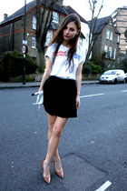 skater nowIStyle skirt - sports adidas t-shirt - Accessorize necklace