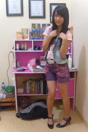 dress - mongolia vest - belt - shorts - covet shoes