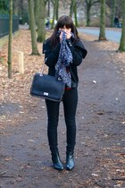 black Emilio Pucci bag - black Zara boots - black H&M jacket