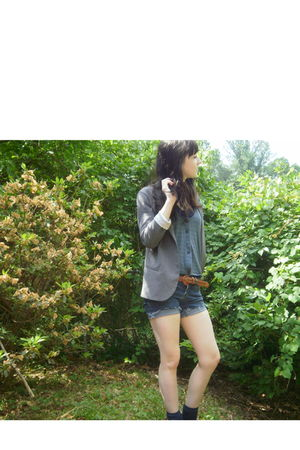 Urban Outfitters shoes - Urban Outfitters blazer - Levis shorts - Target socks -