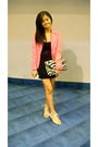 Pink-esprit-blazer-black-sm-dress-white-shoes-white-tomato-top