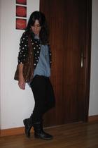 H&M jacket - Bershka shirt - Bershka boots - vintage purse
