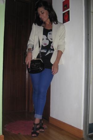 vintage t-shirt - Bershka jeans