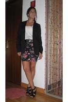 Bershka blazer - vintage t-shirt - Zara skirt