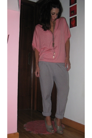 Bershka sweater - Bershka pants - vintage accessories