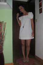 vintage dress - pull&bear necklace - BLANCO shoes - vintage earrings