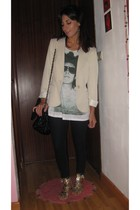 Zara t-shirt - Mango blazer - Zara shoes