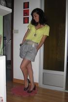 Zara t-shirt - BLANCO shorts - H&M shoes