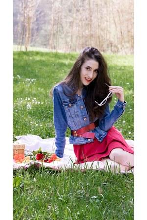 blue denim jacket H&M jacket - red a style SOliver dress