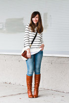 Aldo Shoes shoes - American Eagle jeans - Forever 21 sweater - Fossil bag