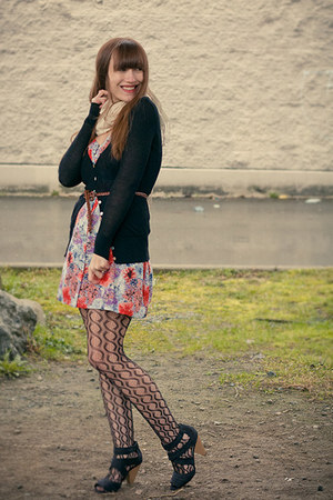 H&M shoes - modcloth dress - Kersh sweater