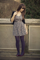 Joe Fresh shoes - modcloth dress - Joe Fresh tights