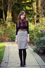 Club-monaco-sweater-h-m-scarf-rw-skirt-aldo-pumps