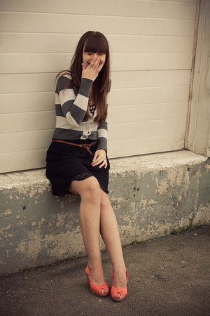 H&M shoes - alainn bella skirt - Kersh cardigan