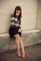 H&M shoes - alainn bella skirt - Kersh cardigan