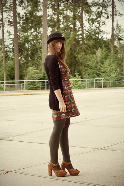 obey dress - Jeffrey Campbell shoes - Kersh cardigan