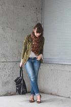 banana republic bag - Gap shoes - American Eagle jeans - Forever 21 jacket