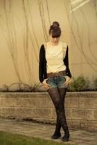 American Eagle shorts - modcloth belt - Kersh cardigan - modcloth top