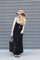 Forever 21 hat - Zara shoes - Old Navy dress - banana republic bag