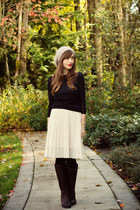 vintage skirt - Wanted Shoes boots - Club Monaco sweater