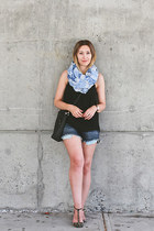 American Eagle shorts - Zara shoes - willow & park scarf - coach bag