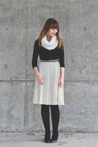 Loft scarf - Aldo shoes - Club Monaco sweater - thrifted vintage skirt