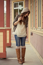 threadcase top - Blowfish Shoes boots - American Eagle jeans