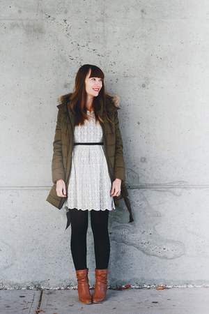 Old Navy jacket - Aldo shoes - Forever 21 dress - modcloth tights
