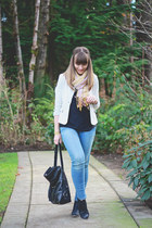 Old Navy boots - American Eagle jeans - banana republic blazer - Zara top