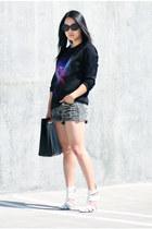 black H&M shirt - white Alexander Wang shoes - black Marie Turnor bag