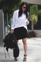 white Yesstyle sweater - black t by alexander wang skirt