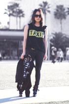 black antik Zara boots - black volcom jacket - black Alexander Wang bag