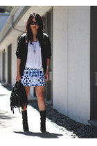 blue Motel Rocks skirt - black Giuseppe Zanotti boots