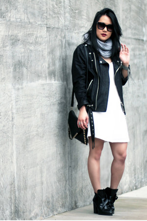 black MINUSEY jacket - black Zara boots
