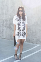 white stylestalker dress - black Alexander Wang shoes - silver LUV Aj necklace