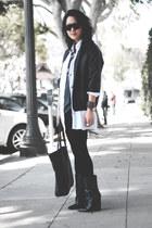 Giuseppe Zanotti boots - American Apparel jacket - H&M blouse - DIY pants