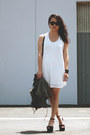 White-perforated-bycorpus-dress-black-jeffrey-campbell-shoes