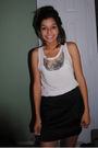 Black-forever21-skirt-white-shirt-shirt-urban-outfitters-tights