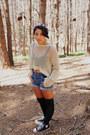 Black-platforms-max-star-shoes-camel-mesh-wet-seal-sweater