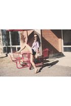 lavender knit VERYHONEYCOM sweater - shorts f21 pants